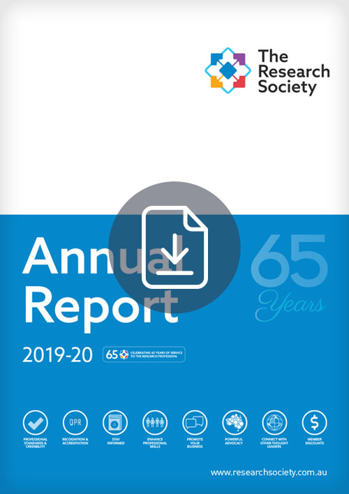 The Research Society Annual Report